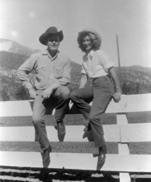 Bill McGee and a divorce seeker on the Flying M.E., 1948