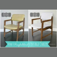 Reupholstering Vintage Dining Chairs {Tiny Sidekick}