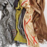 DIY Scarves Ideas - How to embellish scarves