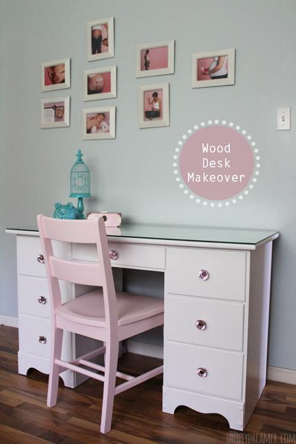 Wood Furniture Makeover  Desk and Dresser Transformation