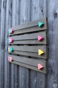 Arrow Wall Decor - DIY Wood Arrows Wall Art