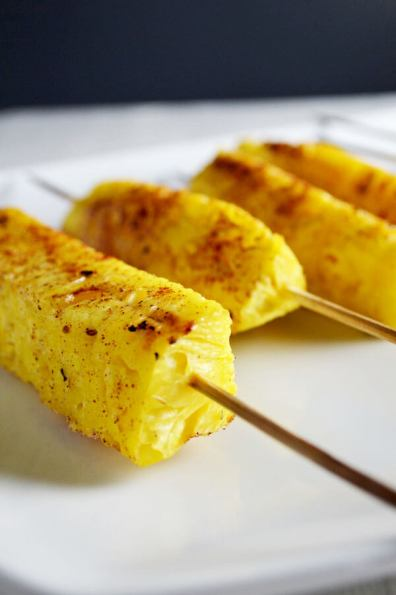 Cinnamon Grilled Pineapple