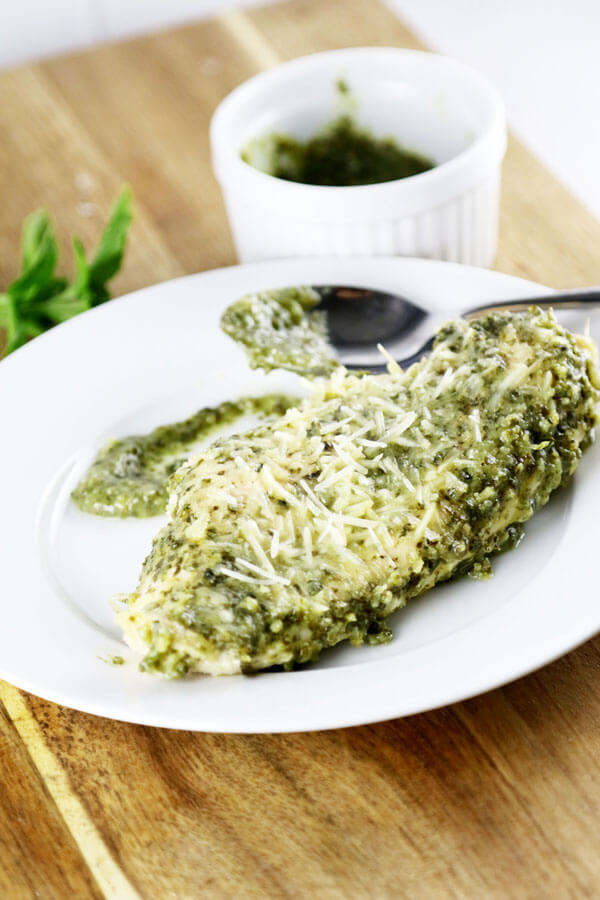 Yummy Baked Pesto Chicken