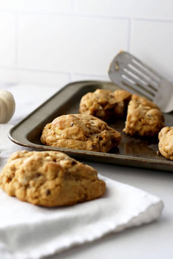 Ginormous Pumpkin Spice Cookies