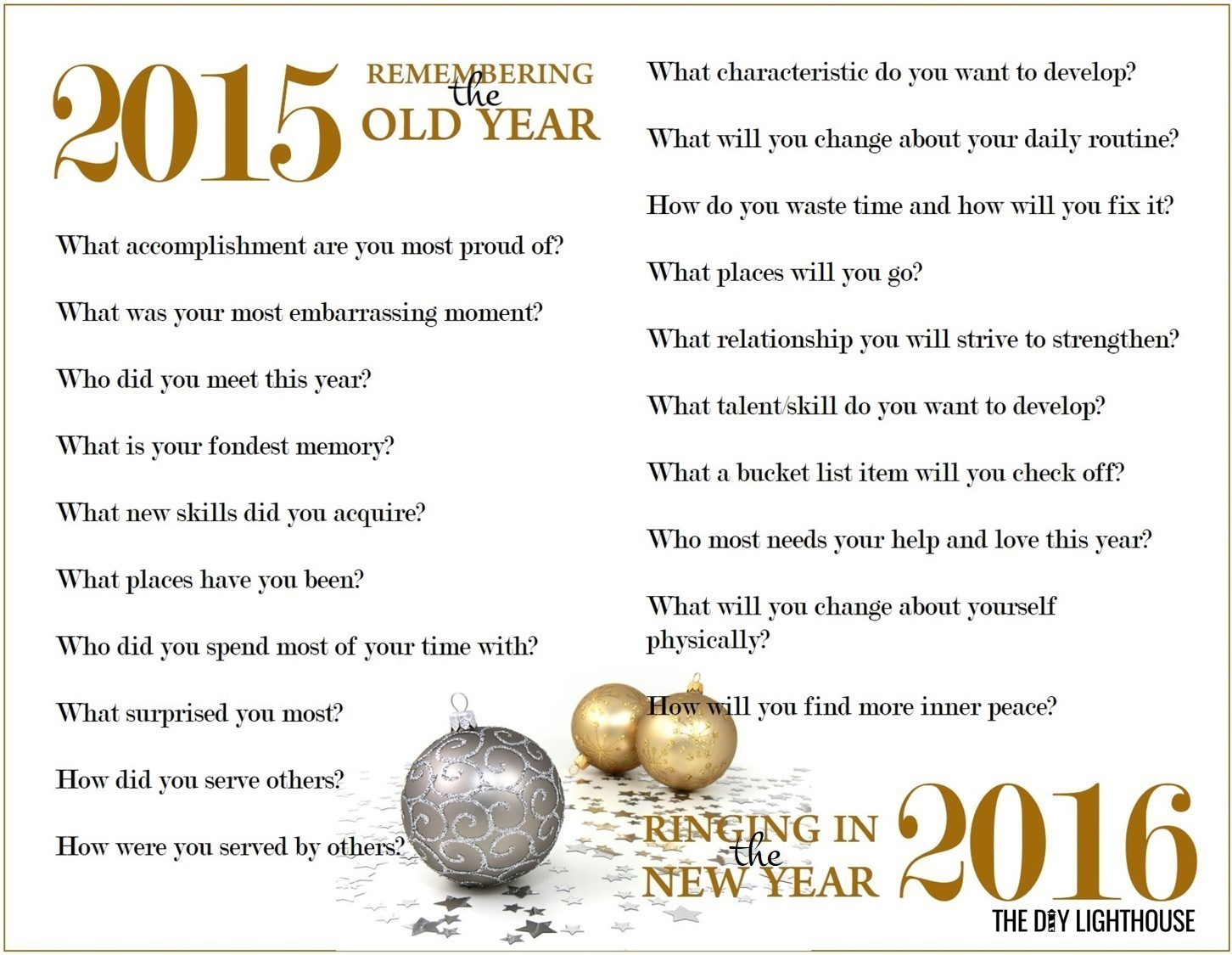Free Printable New Year Resolutions Worksheet