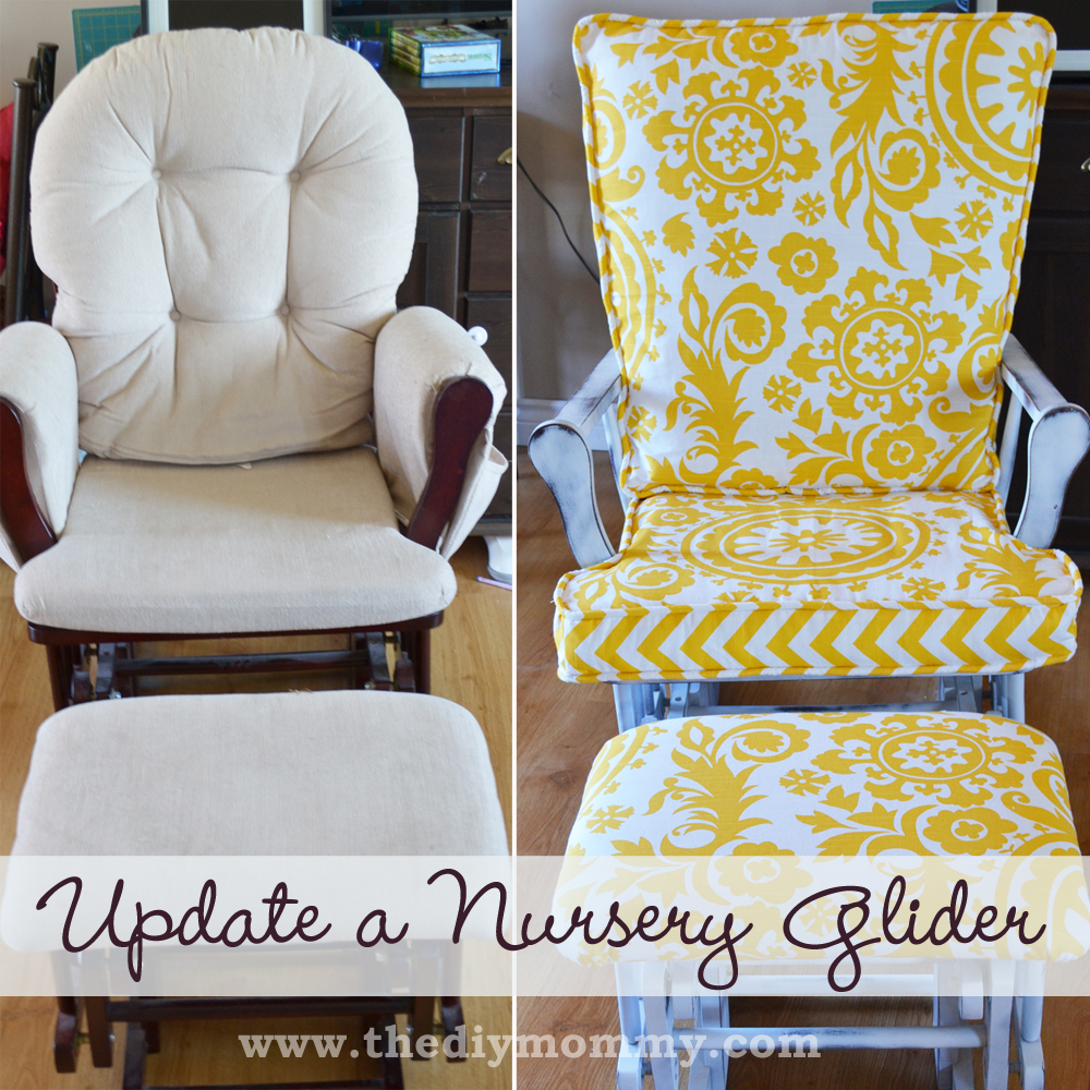 Cushions For Glider Chairs Update A Nursery Glider Rocking Chair The Diy Mommy
