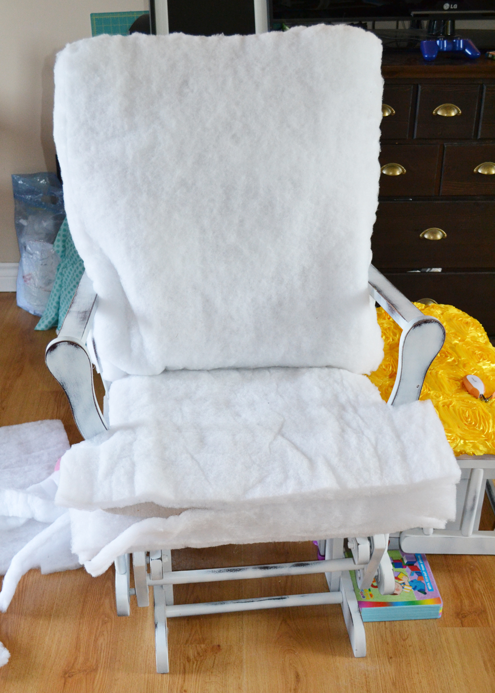 how to recover glider rocking chair cushions ivory banquet covers wholesale update a nursery the diy mommy