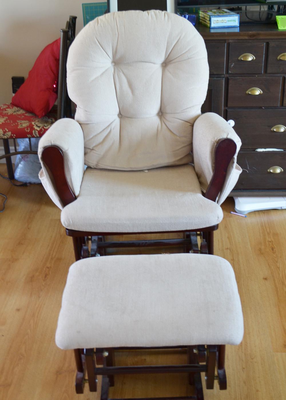 Update A Nursery Glider Rocking Chair The Diy Mommy