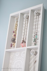 Make a Jewelry Holder from a Cutlery Tray | The DIY Mommy
