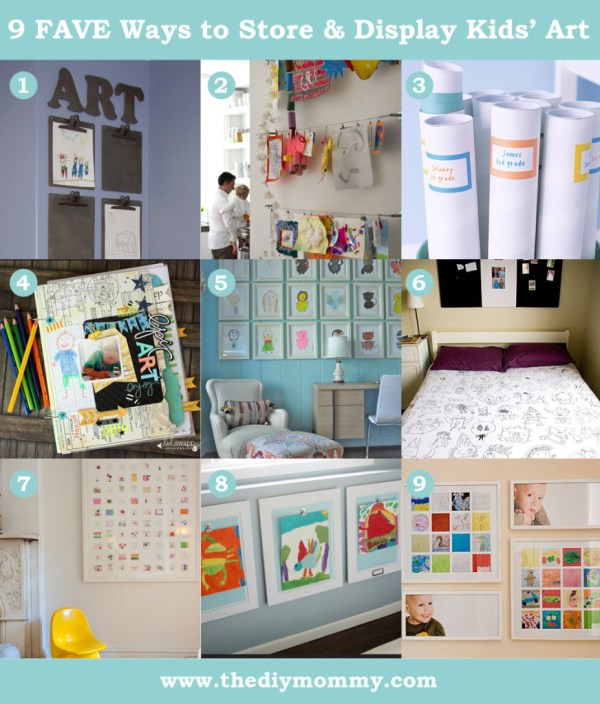 9 Favourite Ways Display And Store Kids Artwork