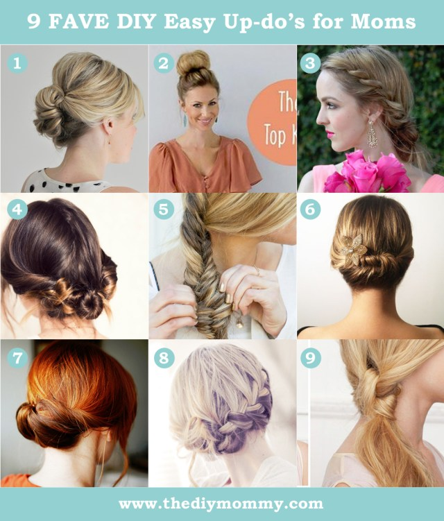 9 favourite easy updos for moms
