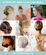 easy hair style updo tutorials