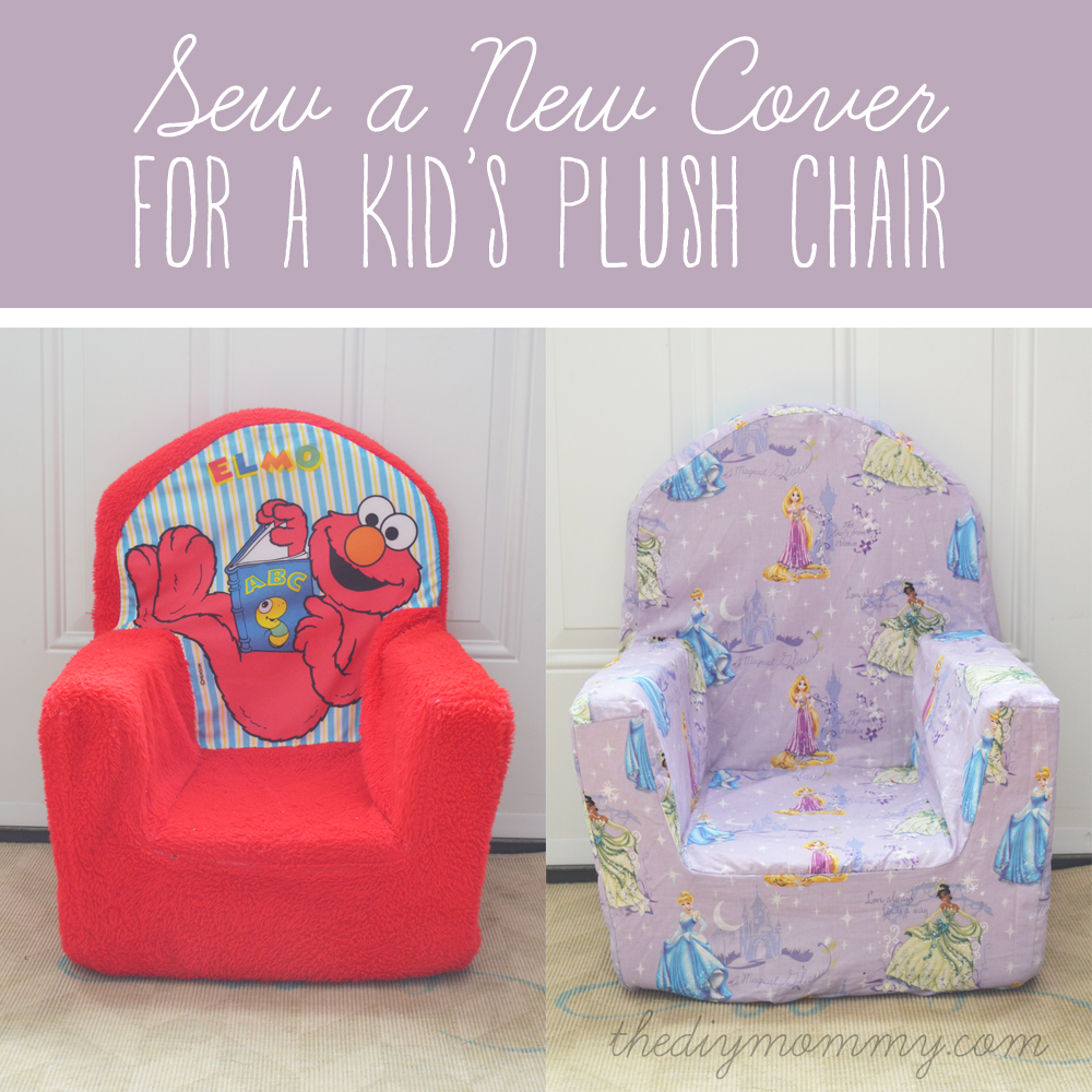 armchair cover diy where to buy bean bag chairs sew a new for plush kid s chair the mommy by