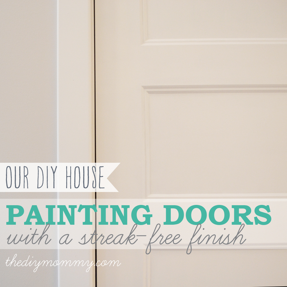 painting doors with a