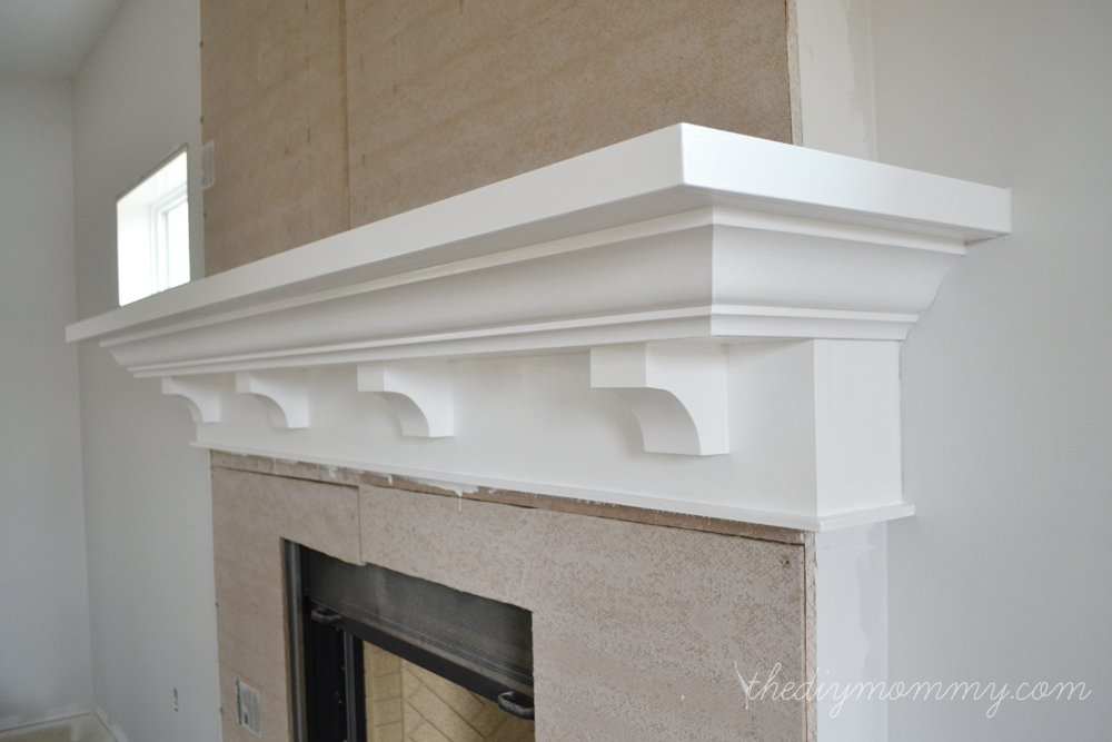 Building Our Fireplace: The DIY Mantel  Our DIY House