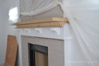 Building Our Fireplace: The DIY Mantel  Our DIY House ...