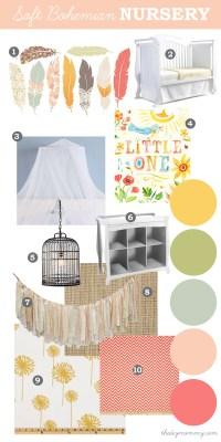 Mood Board: A Soft Bohemian Nursery (+ Baby Days at Sears ...