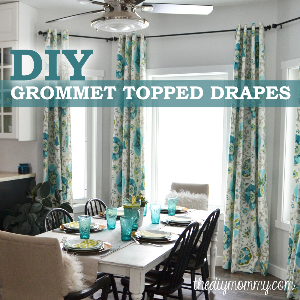 How To Make Unlined DIY Drapes With An Easy Grommet Top The DIY