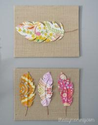 Make Fabric Feather Wall Art