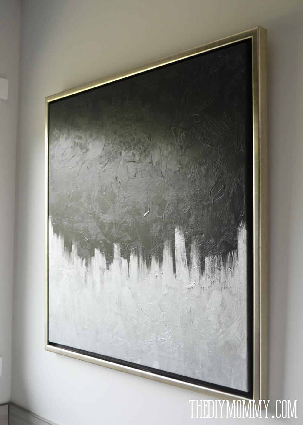 Make Modern Artwork From Thrift Store Canvas Art