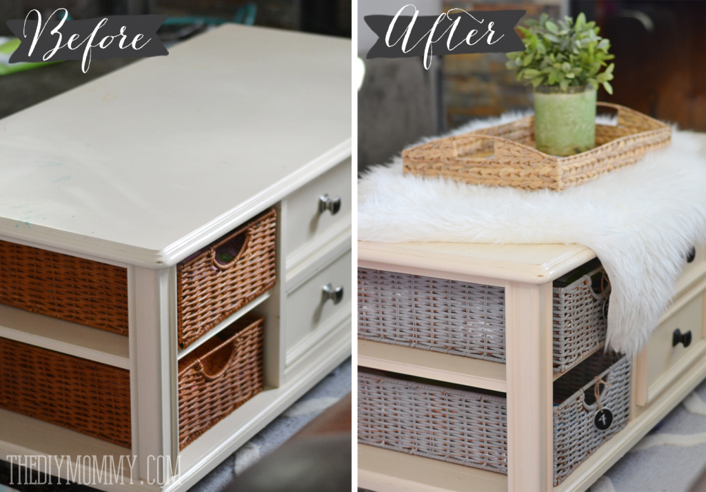 an easy coffee table makeover with