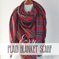 Make an Easy No Sew DIY Plaid Blanket Scarf