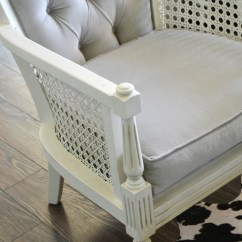 Formal Sitting Room Chairs Little Girls Chair A Vintage Cane Pair Makeover In Grey Velvet | The Diy Mommy