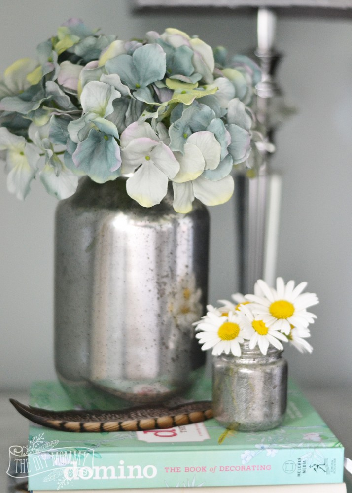Make Faux Mercury Glass Vases from Recycled Jars  The DIY
