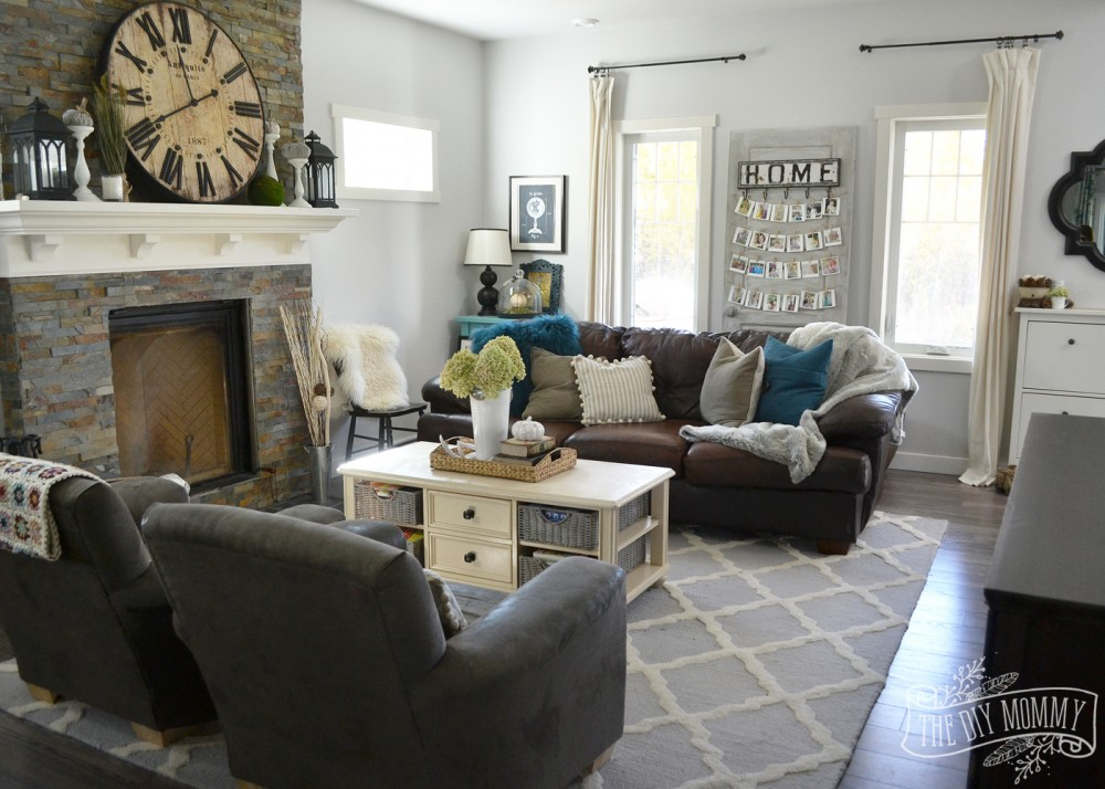 Exceptional My Home Style Before And After Modern Boho Country Living Room. Brown Cream  And Teal Living Room Decorating Ideas 3 By Dianne Grey Part 22