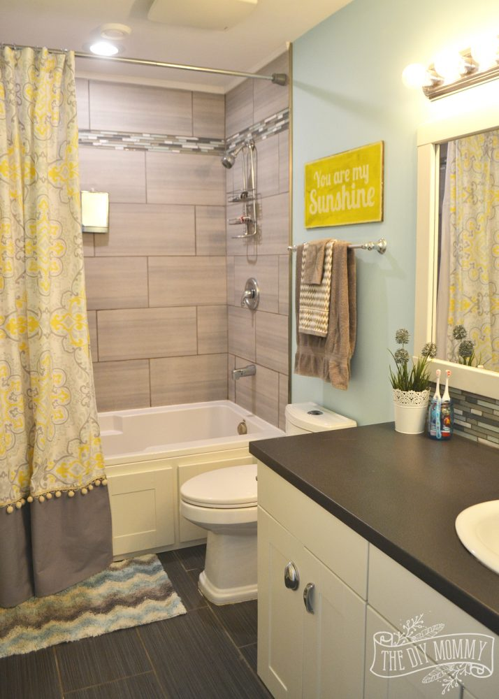 Kids Bathroom Reveal and some great tips for postreno clean up  The DIY Mommy