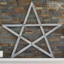 Make Christmas Star Decoration Pieces Of Trim