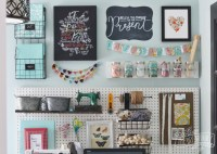 A Craft Room Office Pegboard Gallery Wall (With Video Tour ...