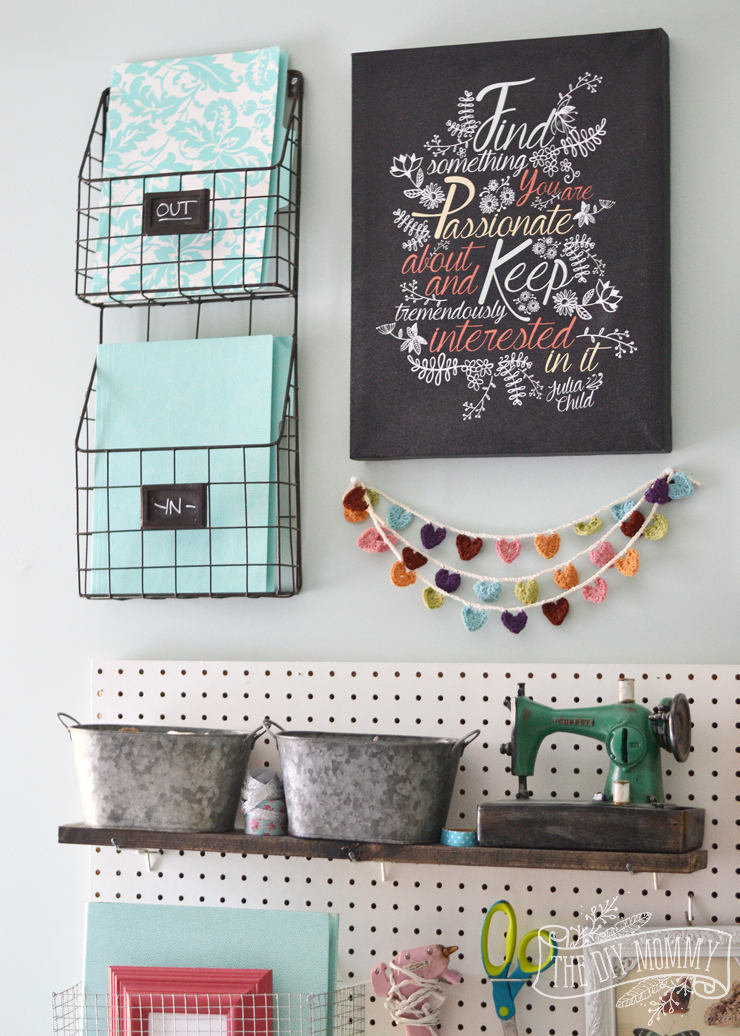A Craft Room Office Pegboard Gallery Wall With Video Tour