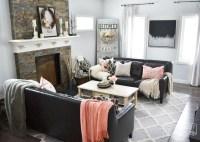 Black & Blush Pink Valentine's Day Home Decor Ideas + DIY ...