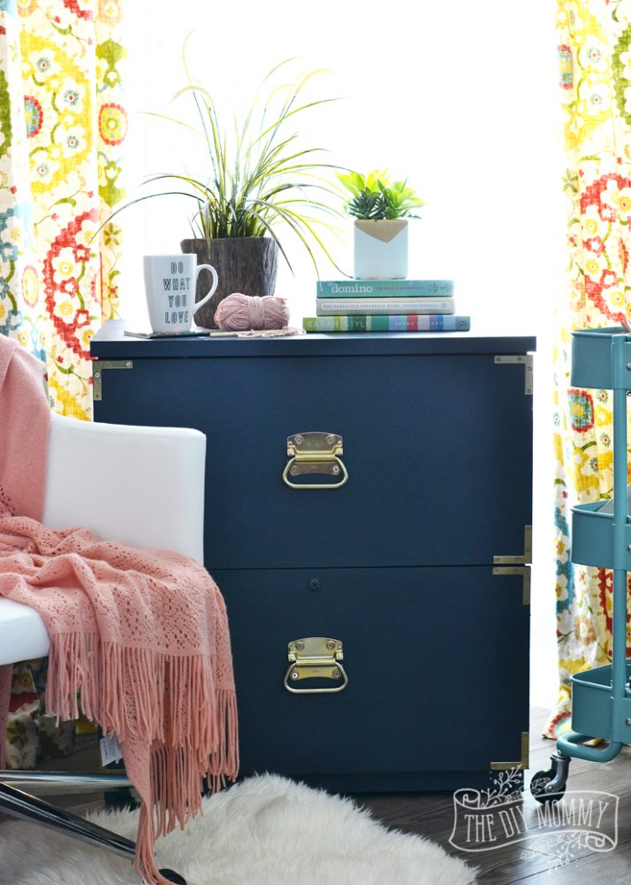 A Campaign Dresser Inspired Filing Cabinet Makeover  Win the Entire Amanda Forrest FAT Paint
