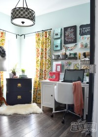 My Colourful Boho Craft Room Office Tour (Video) | The DIY ...