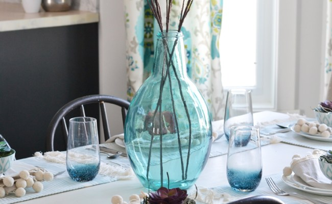 A Fresh Nature Inspired Spring Or Easter Table Setting