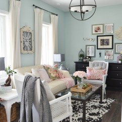 Decor Living Room 2016 New Spring Home Tour Nature Inspired Vintage Farmhouse The Floral Sitting