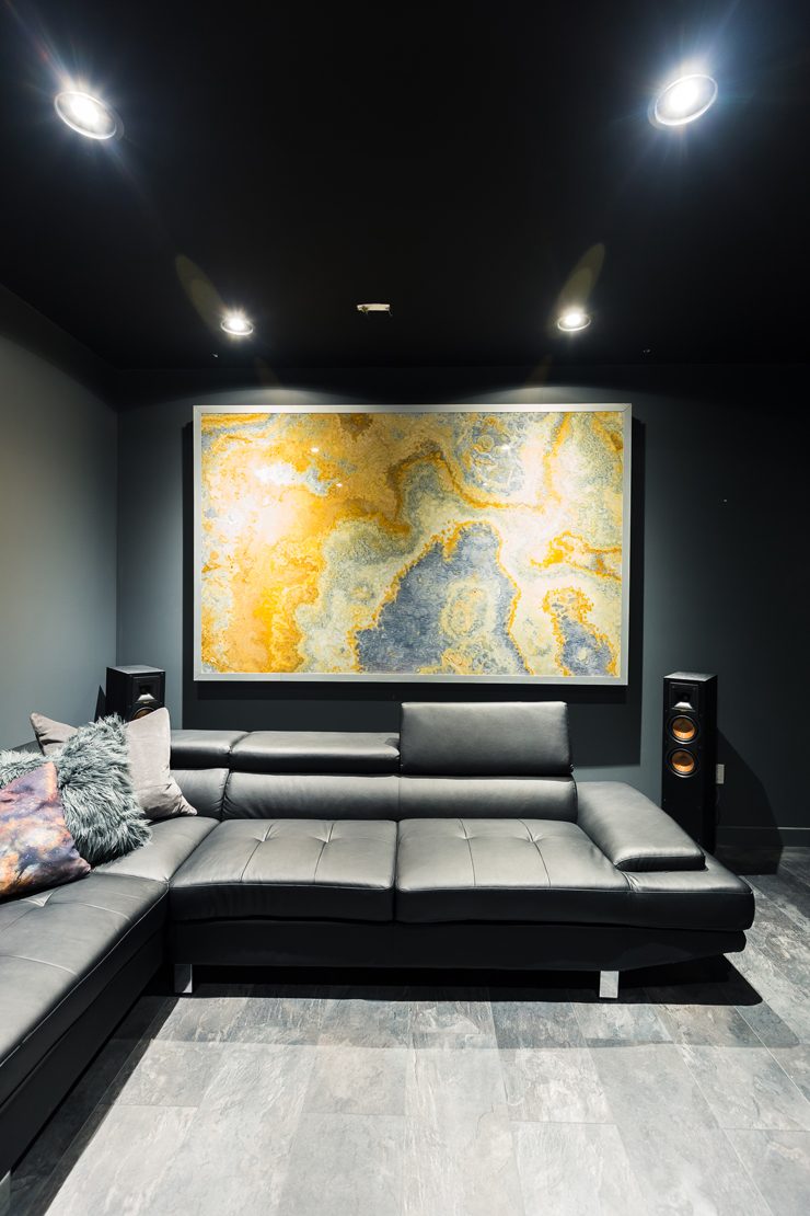 pictures of grey living rooms diy wall decorating ideas for room our ultra modern theater man cave reveal   the mommy