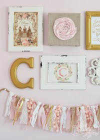 A Thrifted Shabby Chic Gallery Wall and Lamp Makeover ...