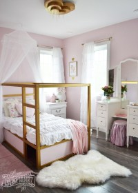 A Pink, White & Gold Shabby Chic Glam Girls Bedroom ...