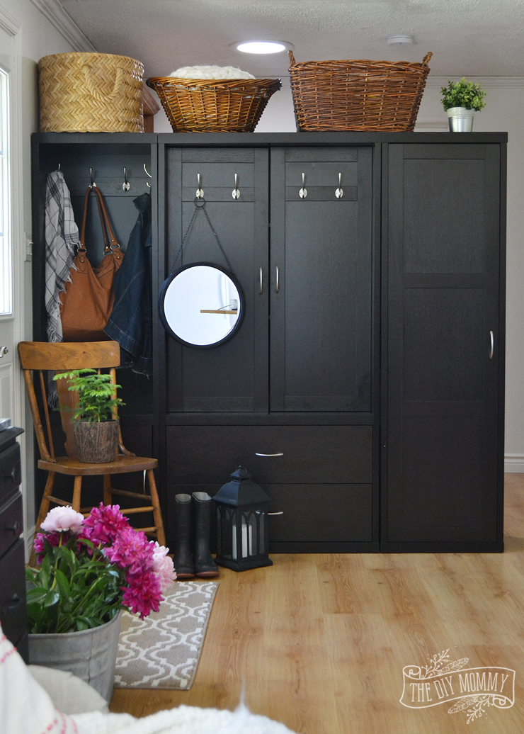 Creating an Entry Using a Cabinet as a Room Divider  Our