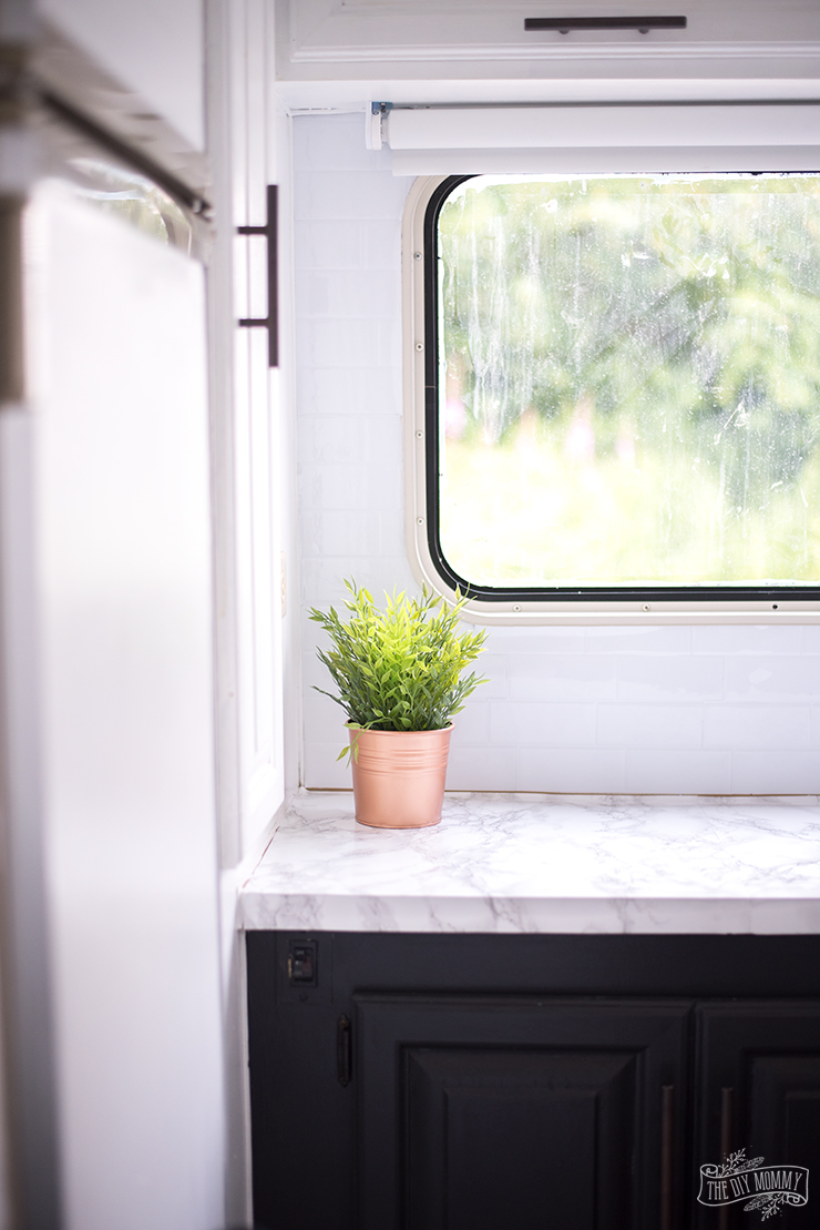 decorative tiles for kitchen appliances sale our diy camper makeover – painting oak cabinets