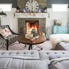 Diy Living Room Chair Cover Affordable Rug Fall 2017 Home Tour: Cheerful Boho Farmhouse Style