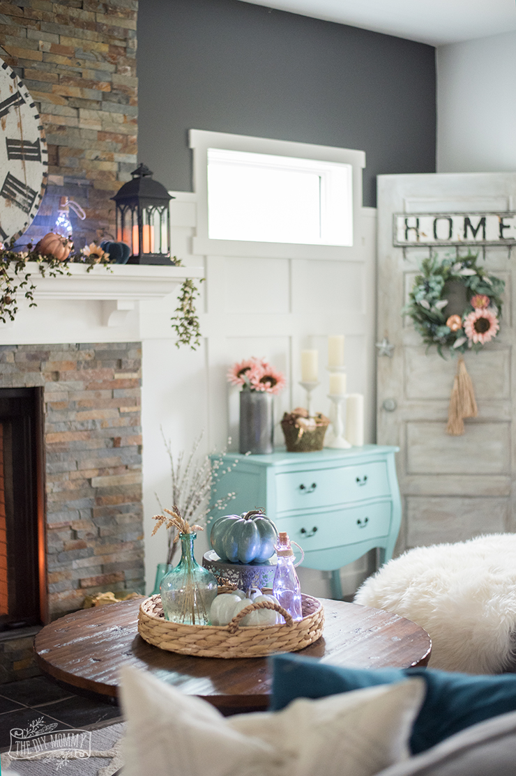 pink arm chair babies r us vibrating fall 2017 home tour: cheerful boho farmhouse style