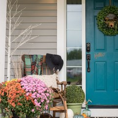 Red Outdoor Chair Pillows Cheap Vanity Our Cheerful Fall Front Porch | The Diy Mommy