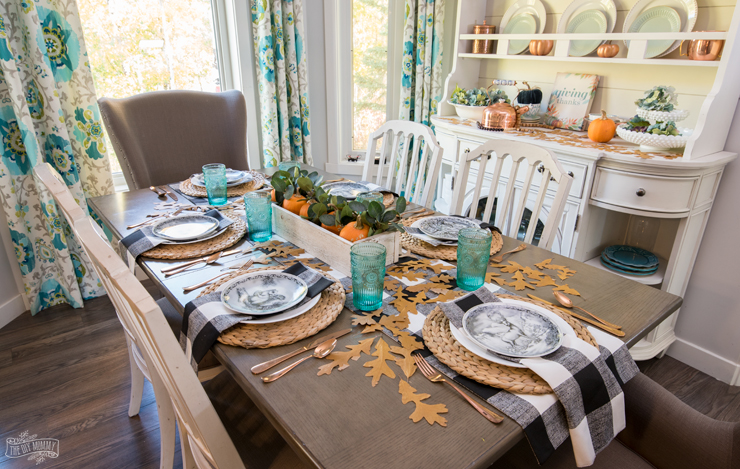 cozy natural thanksgiving table