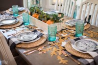 Cozy & Natural Thanksgiving Table Setting