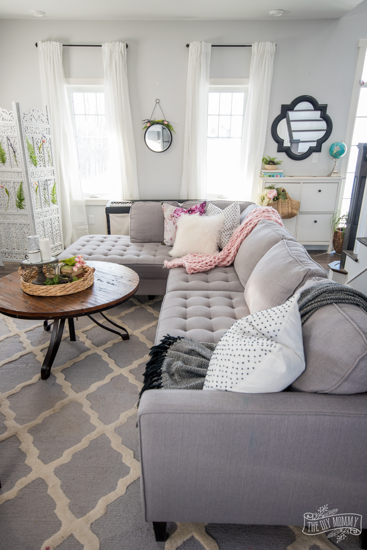 Spring 2018 Front Door  Living Room Tour  The DIY Mommy