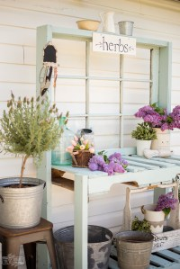 Make a Potting Bench from Pallets & an Antique Window ...